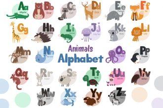 Free Vector Animals Alphabet