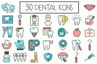 30 Free Dental Icons