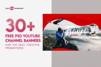 30+PREMIUM & FREE PSD YOUTUBE CHANNEL BANNERS FOR THE BEST CREATIVE PROMOTERS!