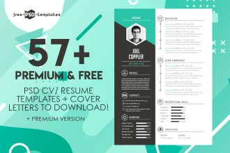 57+PREMIUM & FREE PSD CV/ RESUME TEMPLATES + COVER LETTERS TO DOWNLOAD!
