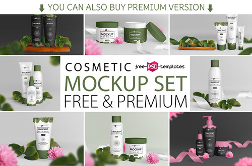 73+Premium & Free PSD Cosmetic Packaging Mockups for