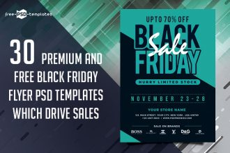 30 Premium and Free Black Friday Flyer PSD Templates Which Drive Sales