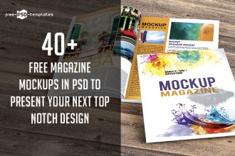 40+ Free Magazine Mockups in PSD to Present Your Next Top Notch Design