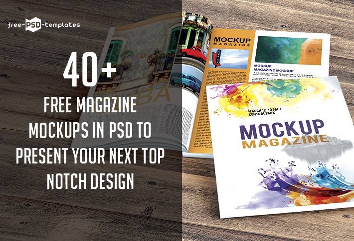 40 Free Magazine Mockups In Psd To Present Your Next Top Notch