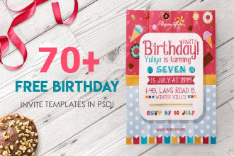70 FREE BIRTHDAY INVITE TEMPLATES IN PSD Premium Invites