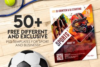 50+ PREMIUM & FREE DIFFERENT AND EXCLUSIVE PSD TEMPLATES FOR SPORT AND BUSINESS!