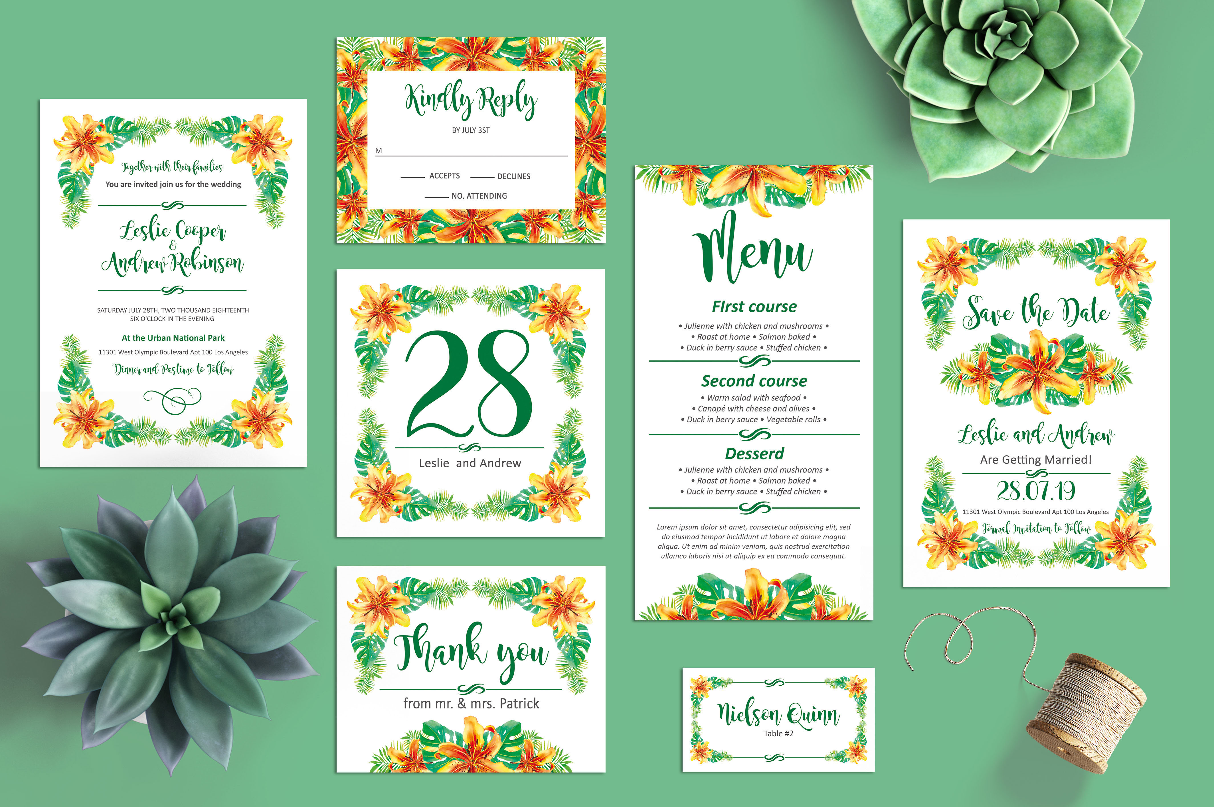 75+ Free Must Have Wedding Templates for designers