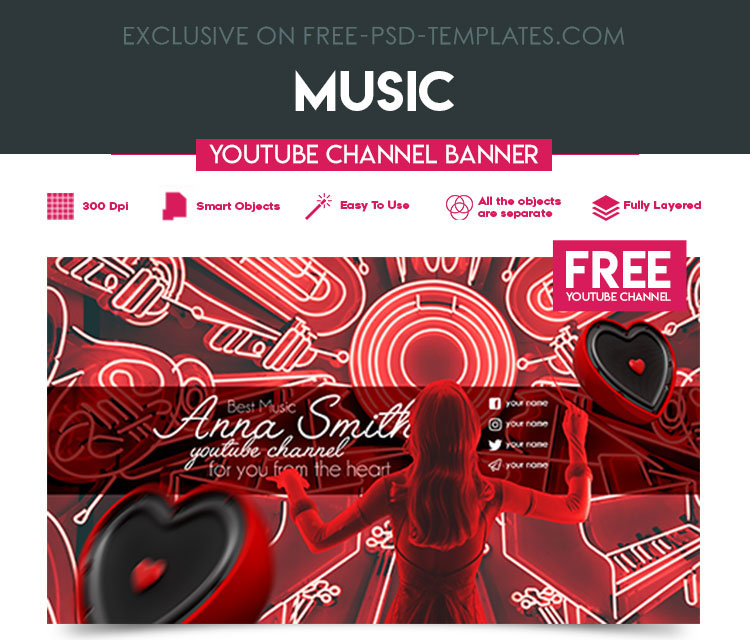 Youtube Channel Banner Maker: 36+PREMIUM & FREE PSD YOUTUBE CHANNEL BANNERS FOR THE BEST