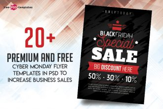 20+ Premium and Free Cyber Monday Flyer Templates in PSD to Increase Business Sales