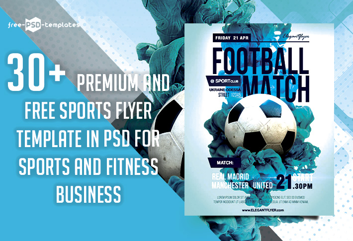 30 premium free sports flyer psd template for sports and fitness