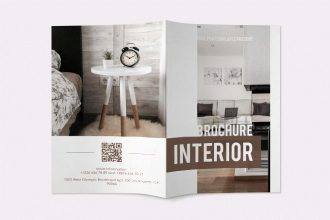Free Interior Bi-Fold Brochure in PSD