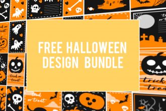 Free Vector Halloween Design Bundle