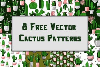 Free Vector Cactus Patterns