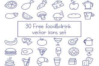 Free Vector Food And Drink Icons Set