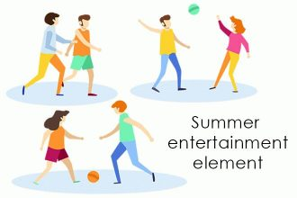 Free Vector Summer Entertainment Element