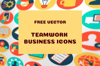 Free Vector Teamwork Business Icons