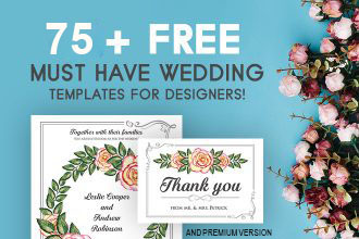 75+ Free Must Have Wedding Templates for designers & Premium Version!