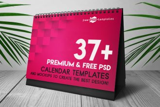 37+Premium and Free PSD Calendar Templates & Mockups to create the best design!