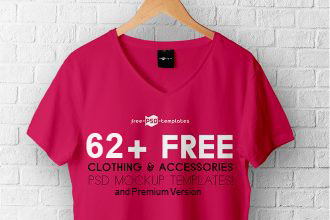 62+ Free Clothing & Accessories PSD Mockup templates and Premium Version!