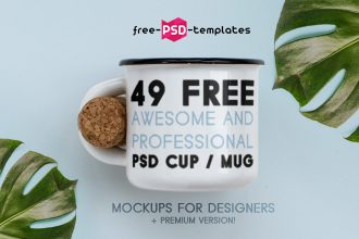 49 Free Awesome and Professional PSD Cup/ Mug Mockups for designers + Premium version!