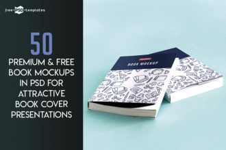 50 Premium & Free Book Mockups in PSD for Attractive Book Cover Presentations