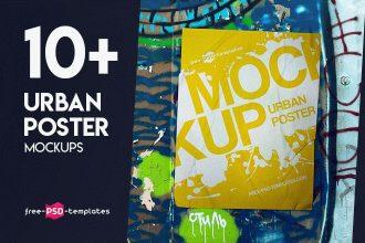 10+ Urban Poster Mockups