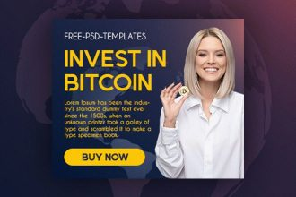15 Free Bitcoin Banners Collection in PSD