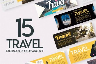 15 Free Travel Facebook Photomasks Set