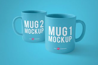 3 Free Mug Mock-ups in PSD