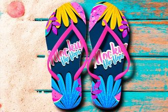 Free Flip Flops Mock-up in PSD