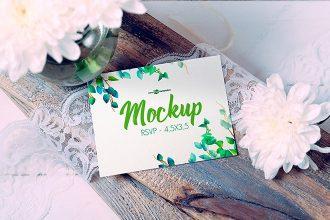 Free Wedding Invitation Mock-up in PSD