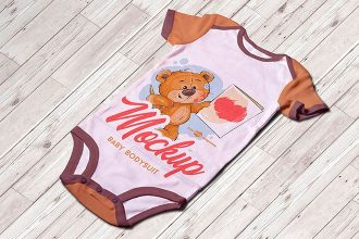Free Baby Bodysuit Mock-up in PSD