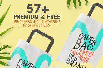 57+Premium & Free Professional Shopping Bag Mockups!