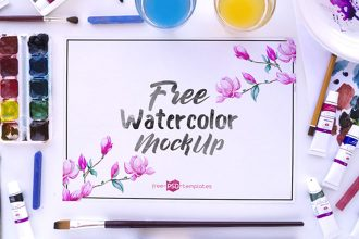 3 Free Watercolor Mockups