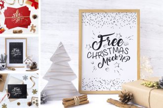 Free Christmas Time Mockup Set
