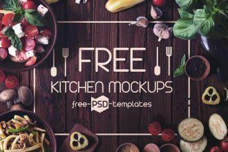 4 Free Kitchen Mockups