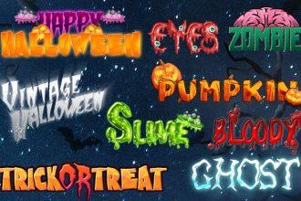 10 Free Halloween Text Styles