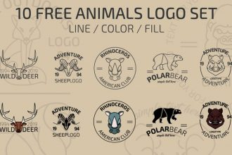 10 Free Animals Logo Set in Vector
