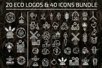 Free Eco Logo and Icon Bundle