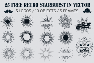 Free Retro Starburst in Vector