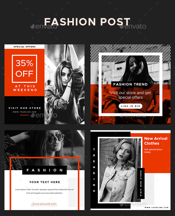 74+ FREE PSD INSTAGRAM FASHION TEMPLATES TO BE STYLISH AND