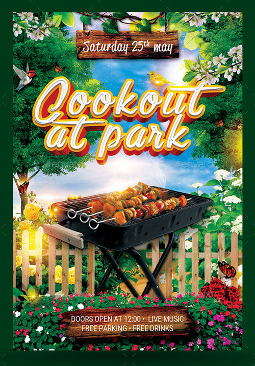35 premium  u0026 free bbq flyer templates in psd for outdoor