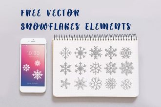Free Vector Snowflakes Elements