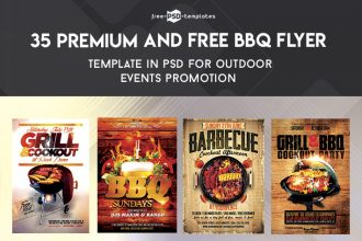 35 Premium & Free BBQ Flyer Templates in PSD for Outdoor Events Promotion
