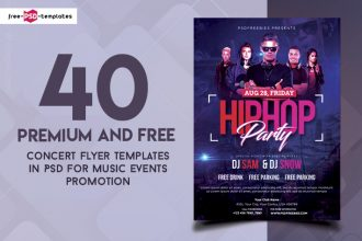 40 Premium and Free Concert Flyer PSD Templates for Music Events Promotion
