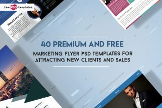 40 Premium and Free Marketing Flyer PSD Templates for Attracting New Clients and Sales