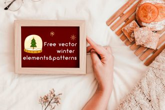 Free Vector Winter Elements And Patterns