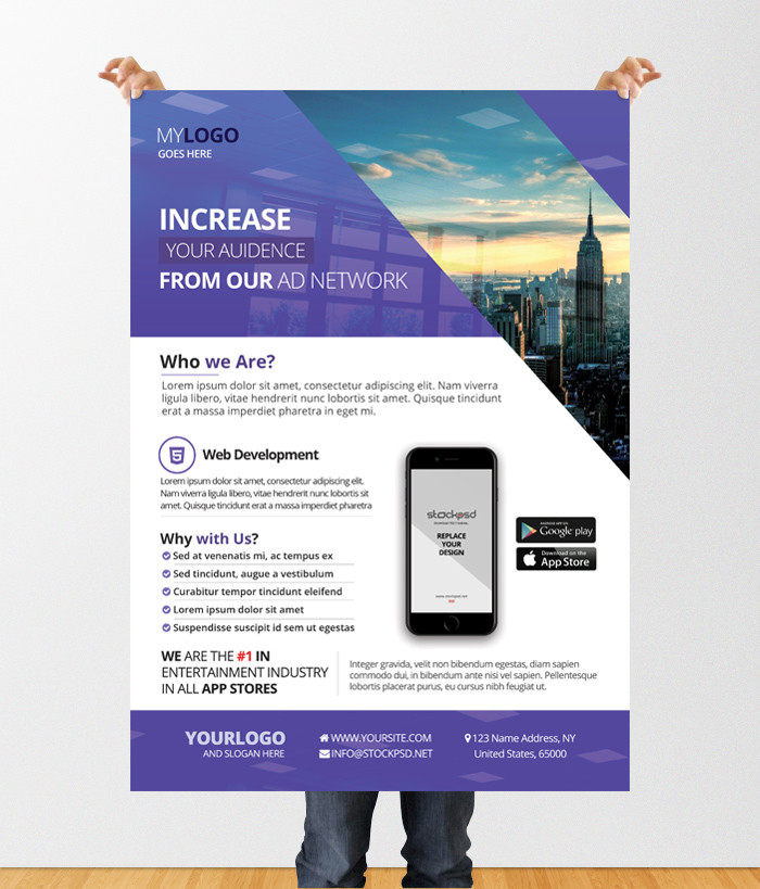 Free Business Flyer Templates Psd: 40 Premium And Free Marketing Flyer PSD Templates For