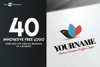 40 Innovative Free Logo Templates for Creative Branding of a Business
