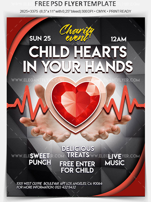 Charity Event Free Flyer Psd Template